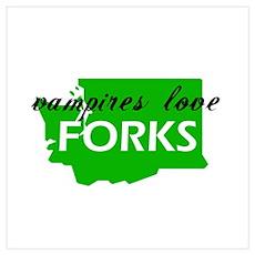 Vampires love Forks Poster