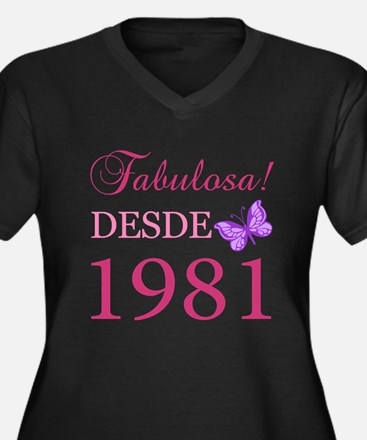 Fabuloso! Desde 1981 Women's Plus Size V-Neck Dark
