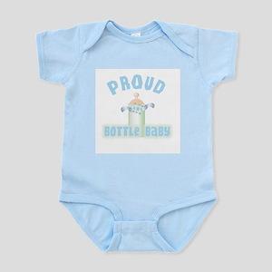 Proud Bottle Baby (blue) Infant Creeper Body Suit