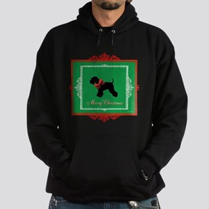 Merry Christmas Schnauzer Hoodie (dark)