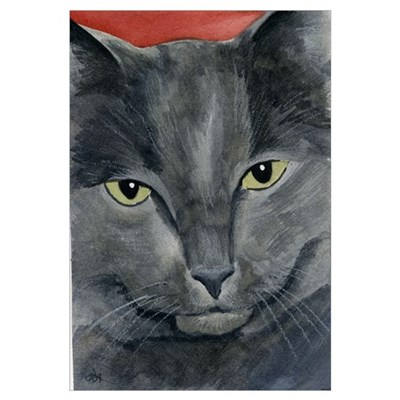 Russian Blue Cat Canvas Art