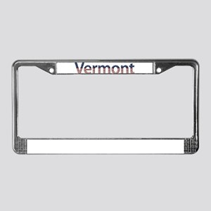 Vermont Stars and Stripes License Plate Frame