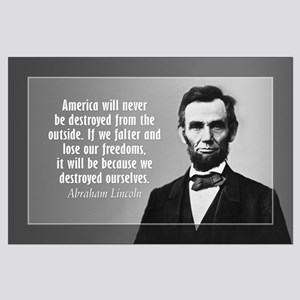 Abe Lincoln Quote on America Large Poster