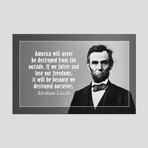 Abe Lincoln Quote on America Mini Poster Print