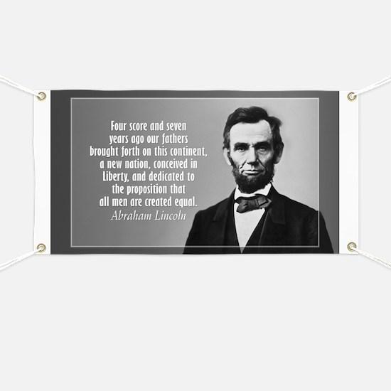 Abe Lincoln - Gettysburg Address Banner