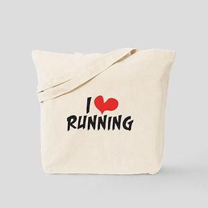 I heart (love) running Tote Bag