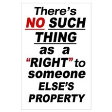 35x23 Someone Else's Property Poster