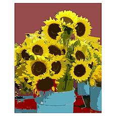 RD Riccoboni Sunflowers Poster