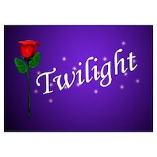 Twilight Rose Poster