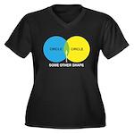 Circles Women's Plus Size V-Neck Dark T-Shirt