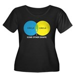 Circles Women's Plus Size Scoop Neck Dark T-Shirt