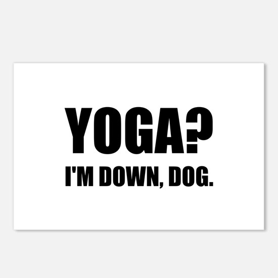 Yoga Down Dog Postcards (Package of 8)