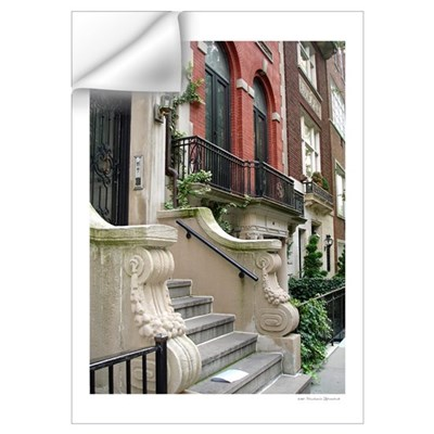 Beautiful Row House NYC Wall Decal