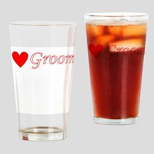 Groom Drinking Glass