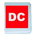 DC (Red and White) baby blanket