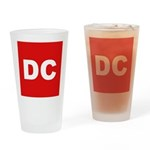 DC (Red and White) Drinking Glass