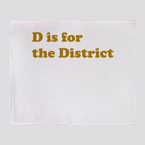 D is for the District Throw Blanket