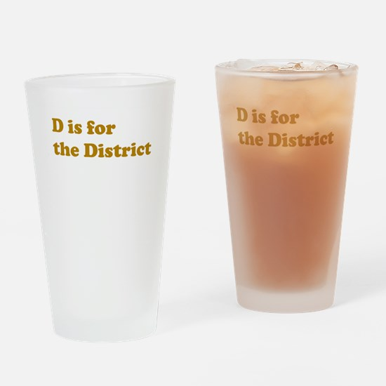 D is for the District Drinking Glass