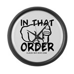 In That Order! Large Wall Clock