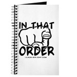 In That Order! Journal