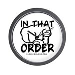 In That Order! Wall Clock