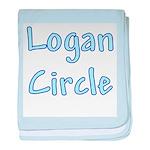 Logan Circle baby blanket