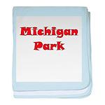 Michigan Park baby blanket