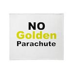 No Golden Parachute Throw Blanket