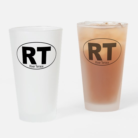 River Terrace Decal-Style Drinking Glass