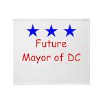 Future Mayor of DC Throw Blanket