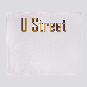 U Street Orange/Blue Throw Blanket