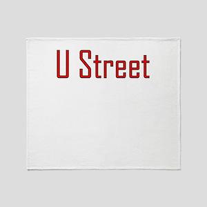 U Street Red/Black Throw Blanket