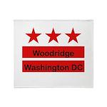 Woodridge - D.C . Flag Inspir Throw Blanket