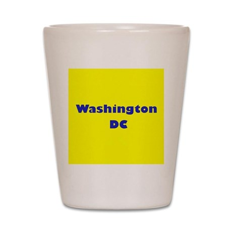 Washington DC (Yellow/Blue) Shot Glass