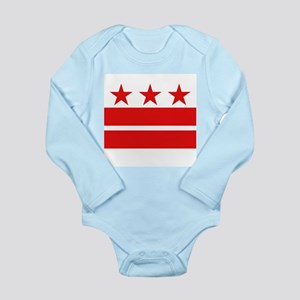Washington dc baby clothes accessories cafepress 3 stars and 2 bars long sleeve infant bodysuit negle Images