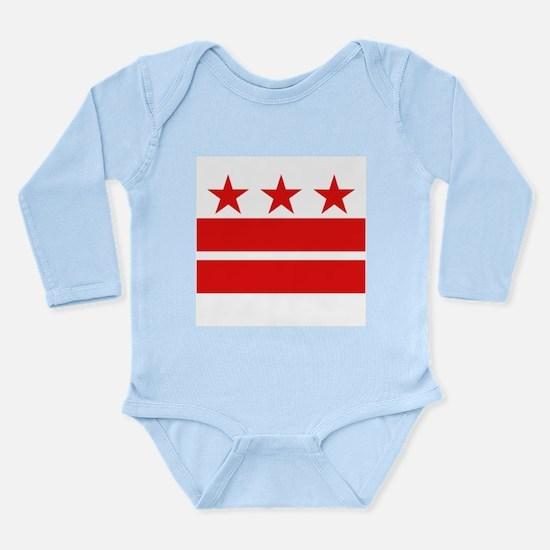 3 Stars and 2 Bars Long Sleeve Infant Bodysuit