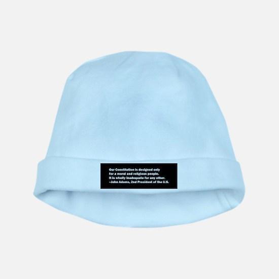 John Adams Quote Baby Hat