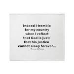 Thomas Jefferson Quote Throw Blanket