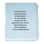 James Monroe Quotation baby blanket
