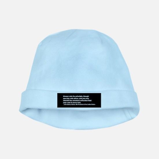 John Quincy Adams Quote baby hat