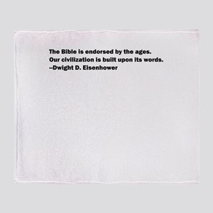 Eisenhower Quote Throw Blanket