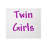 Twin Girls Throw Blanket