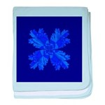 Blue Flower Fractal baby blanket