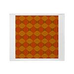 Artwork Orange Fractal Throw Blanket