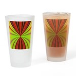Red Drapery Fractal Drinking Glass