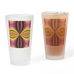 Pink Lady Fractal Drinking Glass