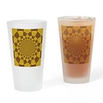 Red & Gold Dance Fractal Drinking Glass