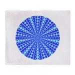 Blue Pattern 001 Throw Blanket