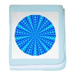 Blue Pattern 001 baby blanket