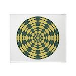 Green Pattern 001 Throw Blanket